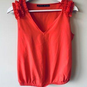 Zara Basic Coral Top